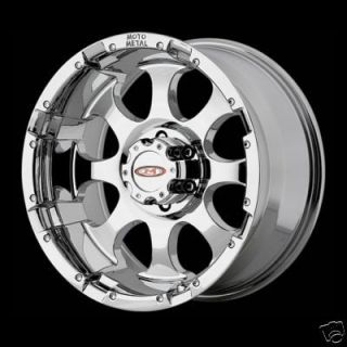 Inch Chrome 8 lug MO955 WHEELS Chevy Silverado Dodge Ram Ford GMC RIMS