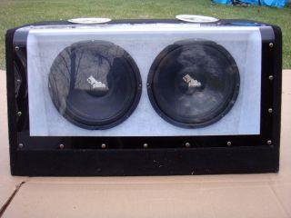 12 Rockford Fosgate Punch Twin SUBWOOFER Car Stereo Amp Speaker Kicker