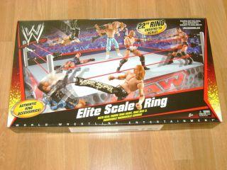Elite Real Scale Mattel WWE Toy Wrestling Ring Playset