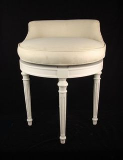 Excellent Quality Swivel Vanity Stool Chair Solid Wood Made in U s A