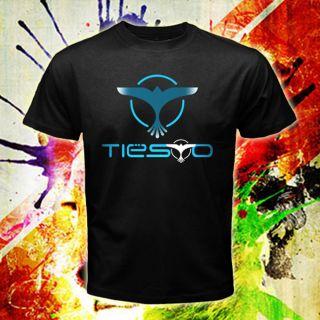 DJ Tiesto Trance Logos Men Black T Shirt Tee Size s XXL
