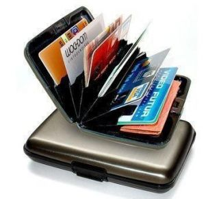 Indestructible Aluminum Shielded Credit Card Wallet RFID Blocking Case