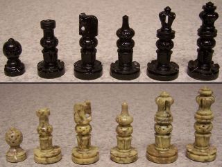 Chess Set & wood Storage Box Board India Maharaja hand carved solid