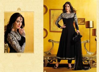 Indian Bollywood Ethnic Salwar ECL Black Anarkali Full Length Express