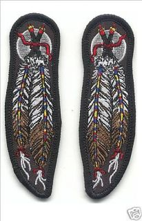 Indian Feathers One Pair Motorcycle Embroidery Patch Wholesale 316