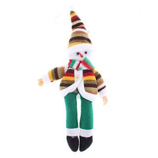 28 centímetros 11 hatted malha Papai Noel em verde Enfeite Calças