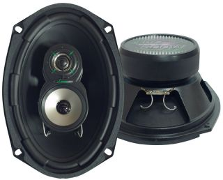 VX693 NEW CAR AUDIO 6X9 INCHES 3 WAY TRIAXIAL SPEAKERS FULL RANGE 300W