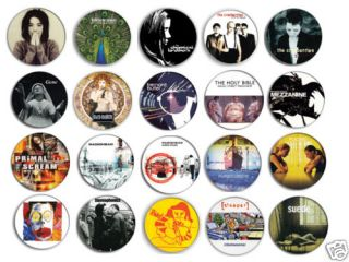 90s Brit Pop Indie Bands Pin Pinback Button Badge Magnet or Keychain