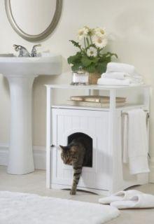 Merry Cat Washroom Pet House Litter Box Dog Puppy Kitty Sleep White