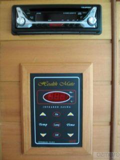 Health Mate 2 Person Infrared Indoor Sauna w Radio CD