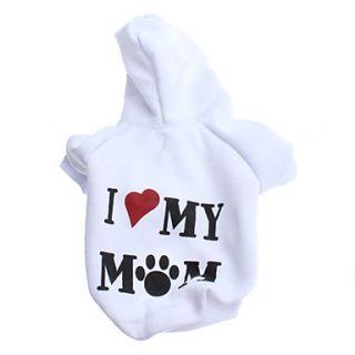 EUR € 9.37   Ilove mi mamá Fleece con capucha Estilo para perros