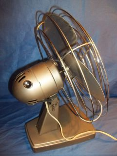 Vintage Metal Industrial Decor Electric Fans  Kenmore Cinni Both