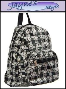 Black Circle Travel Tote Backpack School Messenger Bag