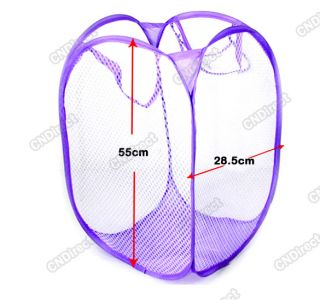 Mesh Collapsible Laundry Hampers Laundry Bag Basket Easy Open