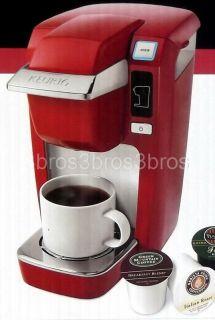 Keurig Mini Single Serve Red Coffee Maker Brewer + 12 K Cup Pack B31