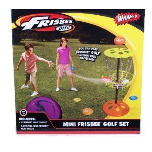 Outdoor Indoor Mini Frisbee Golf Family Game Set 6 Frisbees + 1 Target
