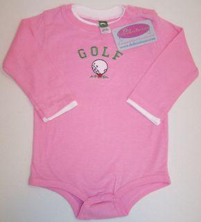 Golf Ball Tee Soft Long Sleeve Baby Onesie Creeper