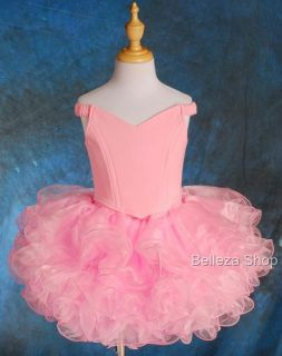Pcs Girls Pink Cupcake National Pageant Dress Sz 3 4T