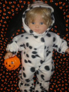 Clothes for Bitty Baby Dalmation Dog Halloween Costume