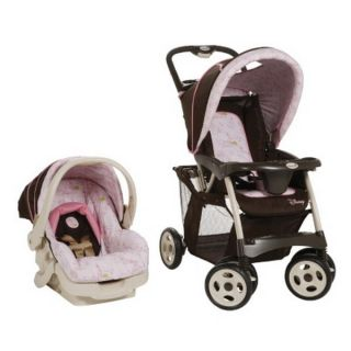 Pro Pack Baby Travel System Pink Stroller Infant Car Seat