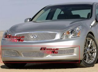 07 08 Infiniti G35 Bumper Stainless Steel Mesh Grille