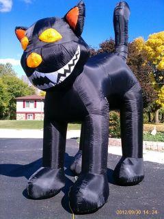 Huge 10 Black Cat Inflatable Halloween Yard Decor