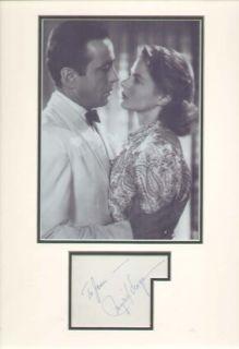 Ingrid Bergman Casablanca Signed Autograph