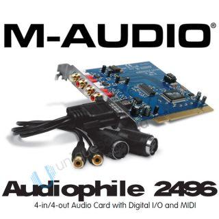 Audio Audiophile 2496 24 Bit 96kHz PCI Interface Card
