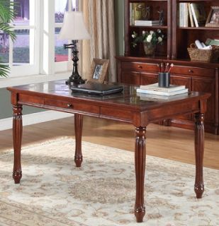 Marble Top Executive Office Writing Table Desk