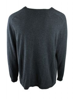 Inhabit Mens Charcoal Tipped Cashmere VNeck Cardigan Sweater XL $410