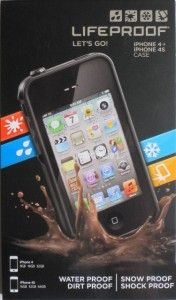 New Black Life Proof Waterproof Case Cover for Apple iPhone 4 4S