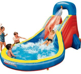 Banzai slide n spray dragon pool inflatable water for Pop up paddling pool