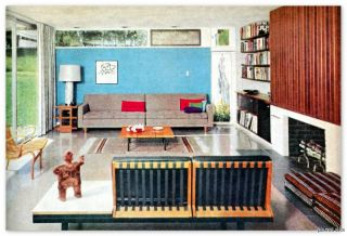 INTERIOR DECORATING mid century modern & other old school design ideas