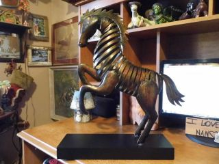 Metal Horse Sculpture for Your Home Interior Decor Bronze Color