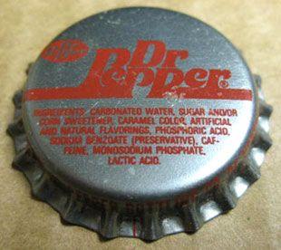 Dr Pepper Soda Crown Bottle Cap Norton Virginia