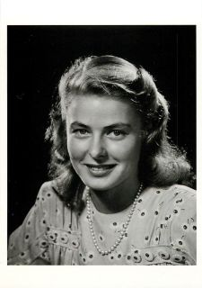 Ingrid Bergman Actress in 1945 by Philippe Halsman Modern Postcard 2