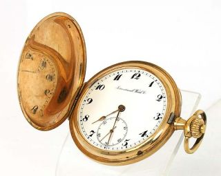 RARE International Watch Co 14k Gold Pocket Watch