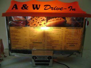 Root Beer Drive in Menu Board Sign Car Hop w 2 Intercoms Nice