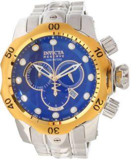 Invicta Reserve 10789 Venom Blue Dial Gold Bezel Bracelet Chronograph