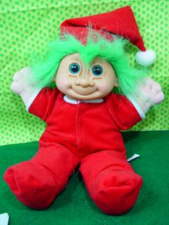 Troll Doll Russ 11 Plush Soft Body Christmas Santa Claus Elf in