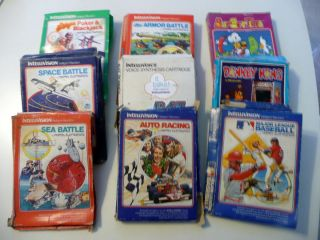 Intellivision Games Donkey Kong Armor Battle Sea Battle Space Battle