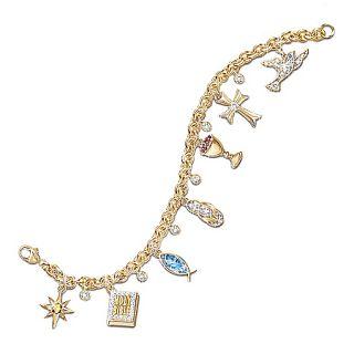of Jesus Inspirational Charm Bracelet Christian Jewelry Gift