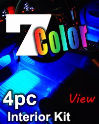 4pc Million Color Flexible Wireless LED Wheel Well Kit