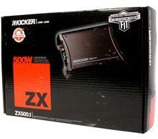 Kicker 11ZX500.1 500 Watt RMS Mono Amplifier + Free Installation Card