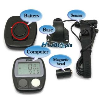 Bike Bicycle Cycling LCD Computer Odometer Speedometer