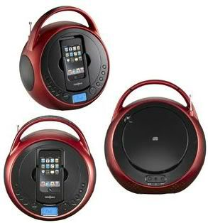 Boombox CD Player Radio for iPod iPhone Dock Station Speaker