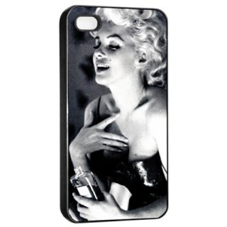 Marilyn Monroe 26P Apple iPhone 4/4s Seamless Case (Black) men women