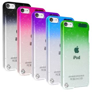 Green Blue Hard Water Rain Drop Case Cover for iPod Touch 5 5g