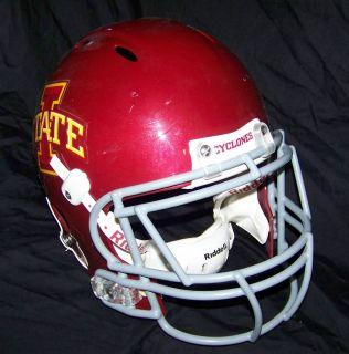 Iowa State Cyclones Game Used Worn Helmet 2010 ISU