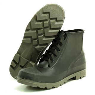 Iron Age 5010 Mens Black Rubber Steel Toe Work Boots 10 M Sample Model